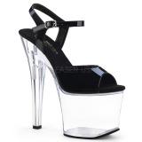 Acrylic 18 cm Pleaser RADIANT-709 Platform High Heels Shoes