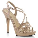 Beige 13 cm Fabulicious LIP-113 højhælede sandaler til kvinder