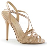 Beige 13 cm Pleaser AMUSE-13 high heeled sandals