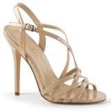 Beige 13 cm Pleaser AMUSE-13 højhælede sandaler til kvinder