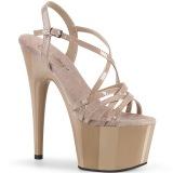 Beige 18 cm ADORE-713 pleaser sandaler med stilethæle