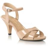 Beige 8 cm BELLE-315 højhælede sko til mænd