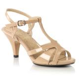 Beige 8 cm Fabulicious BELLE-322 low heeled sandals
