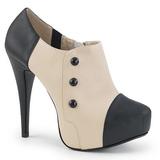 Beige Kunstlæder 13,5 cm CHLOE-11 store størrelser pumps sko