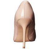 Beige Lakeret 10 cm CLASSIQUE-20 spidse pumps med stiletter hæle