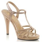 Beige Lakeret 12 cm FLAIR-420 højhælet sko til kvinder