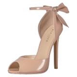 Beige Lakeret 13 cm SEXY-16 klassisk pumps sko til damer