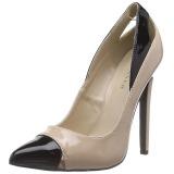 Beige Lakeret 13 cm SEXY-22 klassisk pumps sko til damer