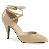 Beige Laklæder 10 cm DREAM-408 store størrelser pumps sko