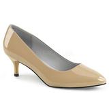 Beige Laklæder 6,5 cm KITTEN-01 store størrelser pumps sko