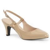 Beige Laklæder 7,5 cm DIVINE-418 store størrelser pumps sko