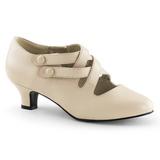 Beige Matte 5 cm DAME-02 Women Pumps Shoes Flat Heels