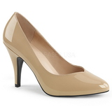Beige Shiny 10 cm DREAM-420 Pumps High Heels for Men