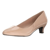 Beige Shiny 5 cm FAB-420W High Heel Pumps for Men