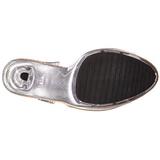 Beige Transparent 13 cm LIP-108 Platform High Heels Shoes