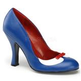 Blå 10,5 cm SMITTEN-05 damesko med høj hæl
