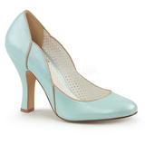 Blå 10 cm SMITTEN-04 Pinup pumps sko med lave hæle