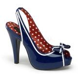 Blå 11,5 cm BETTIE-05 damesko med høj hæl
