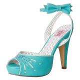 Blå 11,5 cm Pinup BETTIE-01 højhælede sandaler til kvinder