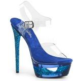 Blå 16,5 cm ECLIPSE-608GT Sandaler med stiletter hæle