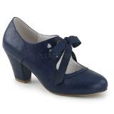 Blå 6,5 cm WIGGLE-32 Pinup pumps sko med blokhæl