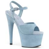 Blå Kunstlæder 18 cm ADORE-709FS højhælede sandaler til kvinder
