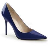 Blå Lakeret 10 cm CLASSIQUE-20 spidse pumps med stiletter hæle