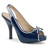 Blå Laklæder 11,5 cm PINUP-10 store størrelser sandaler dame