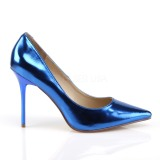 Blå Metallic 10 cm CLASSIQUE-20 Dame Pumps Stilethæle Sko