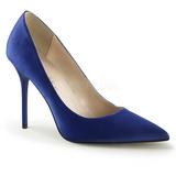 Blå Satin 10 cm CLASSIQUE-20 spidse pumps med stiletter hæle