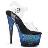 Blå glimmer 18 cm ADORE-708SS poledance sko