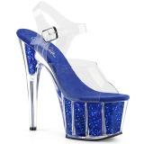 Blå glimmer 18 cm Pleaser ADORE-708G poledance sko