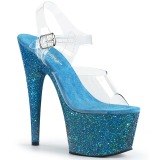 Blå glimmer 18 cm Pleaser ADORE-708LG poledance sko