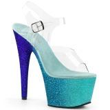 Blå glimmer 18 cm Pleaser ADORE-708OMBRE poledance sko