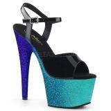 Blå glimmer 18 cm Pleaser ADORE-709OMB poledance sko