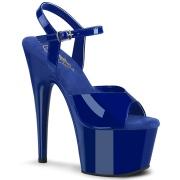 Blå plateau 18 cm ADORE-709 pleaser høje hæle