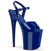 Blå plateau 20 cm FLAMINGO-809 pleaser høje hæle