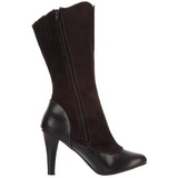 Black 10,5 cm TESLA-107 womens boots with high heels