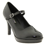 Black 10 cm CONTESSA-50 Mary Jane Pumps Shoes