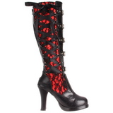 Black 10 cm CRYPTO-106 buckle womens boots with platform