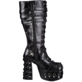 Black 11,5 cm CHARADE-206 lolita knee boots goth platform boots