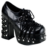 Black 11,5 cm CHARADE-35 lolita shoes gothic womens platform shoes