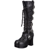 Black 11,5 cm GOTHIKA-200 lolita knee boots goth platform boots