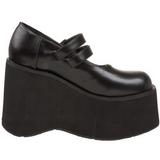 Black 11,5 cm KERA-08 lolita shoes gothic wedge platform shoes