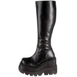 Black 11,5 cm SHAKER-100 lolita knee boots goth platform boots