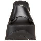 Black 13,5 cm DYNAMITE-01 Goth Platform Sandals Womens