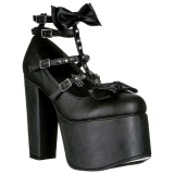 Black 14 cm DEMONIA TORMENT-600 gothic platform shoes