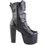 Black 14 cm TORMENT-703 lolita ankle boots goth platform boots