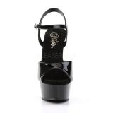 Black 15 cm DELIGHT-609 platform pleaser high heels shoes