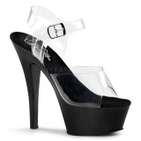 Black 15 cm Pleaser KISS-208 Platform High Heels Shoes